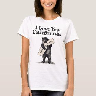 T-shirt Je t'aime la Californie
