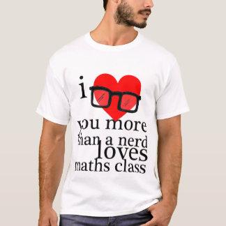 T-shirt Je t'aime plus qu'un ballot aime la classe de