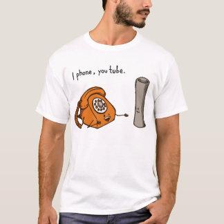 T-shirt Je téléphone, vous tube. Chemise