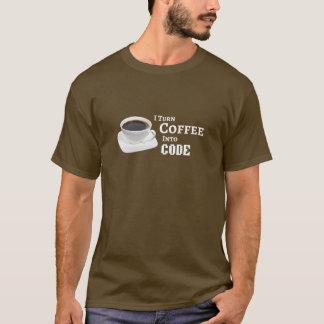 T-shirt Je transforme le café en code