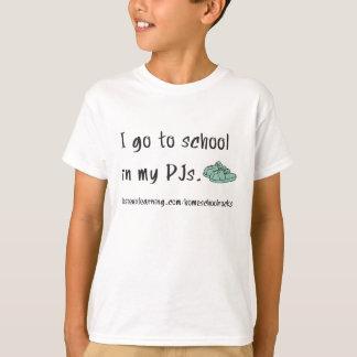 T-shirt Je vais à l'école dans mes PJs.