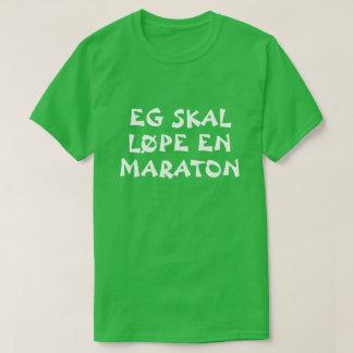 T-shirt Je vais courir un marathon en vert norvégien