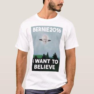 T-shirt Je veux croire à la pièce en t de Bernie