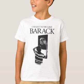 T-shirt Je veux être comme le miroir de Barack