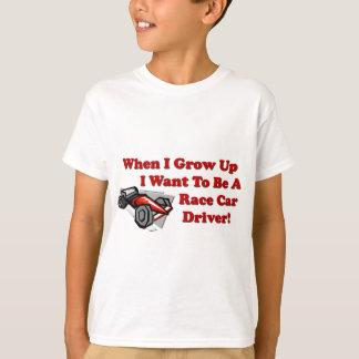 T-shirt Je veux être un pilote de voiture de course