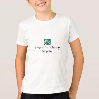 T-shirt Je veux monter ma bicyclette
