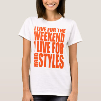 T-shirt Je vis pour le week-end (orange)