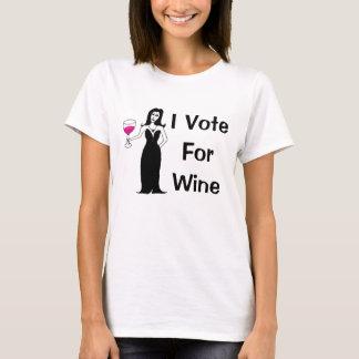 T-shirt Je vote pour le vin