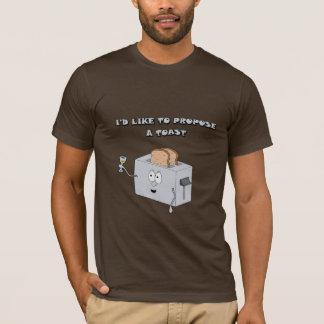 T-shirt Je voudrais proposer un pain grillé