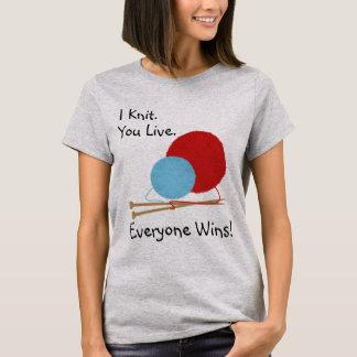T-shirt Je vous tricote vis conception drôle de chemise
