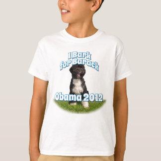T-shirt J'écorce pour Barack, BO le premier chien Obama