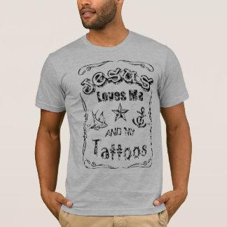 T-shirt Jésus aime moi et mes tatouages