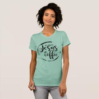 T-shirt Jésus et café