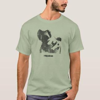 T-shirt Jet de singe de l'espace de pochoir