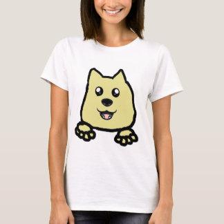T-shirt jeter un coup d'oeil américain de biscuit de chien