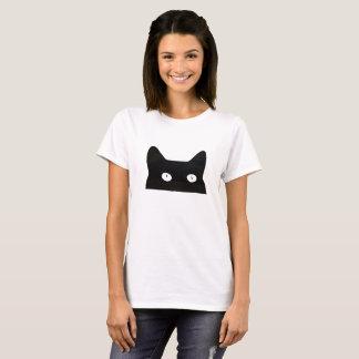 T-shirt Jeter un coup d'oeil le chat