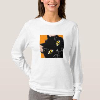 T-shirt Jeter un coup d'oeil noir portable de Kitty