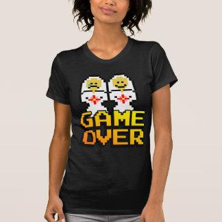 T-shirt Jeu au-dessus de mariage (lesbienne, à 8 bits)