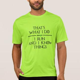 T-shirt Jeu de chemise de technologie de Runhole (vert)
