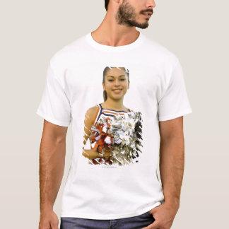 T-shirt Jeune femme dans l'uniforme cheerleading