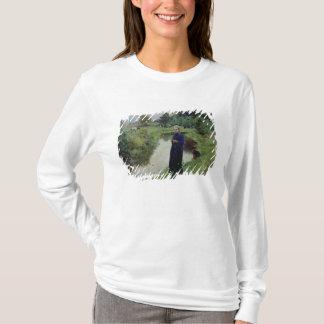 T-shirt Jeune fille dans les domaines,