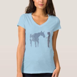 T-shirt Jeune fille et un cheval (femmes)