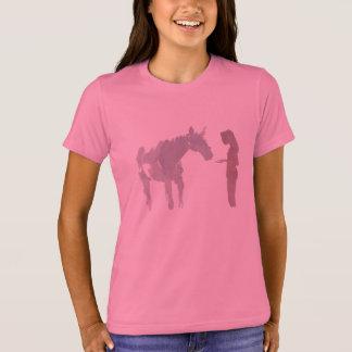 T-shirt Jeune fille et un cheval (fille)
