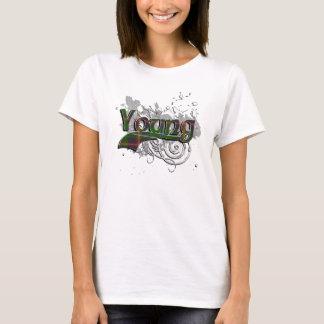 T-shirt Jeune grunge de tartan