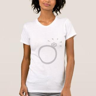 T-shirt JEUNE MARIÉE de bague de fiançailles et d'ÉQUIPE