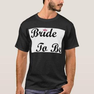 T-shirt Jeune mariée de diadème à être