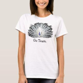 T-shirt Jeune mariée de mariage de paon