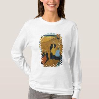 T-shirt Jeunes femmes bretonnes utilisant des châles