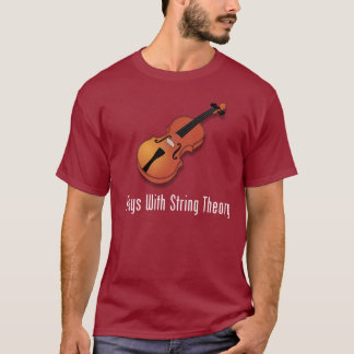 T-shirt Jeux avec la théorie de ficelle - violon