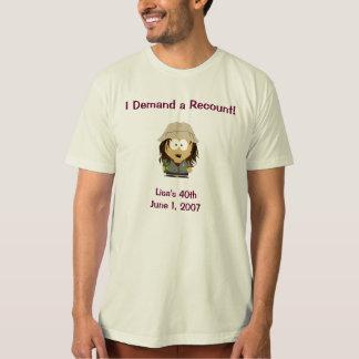 T-shirt J'exige un recompte !