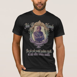 T-shirt JFK sur la révolution violente ou paisible