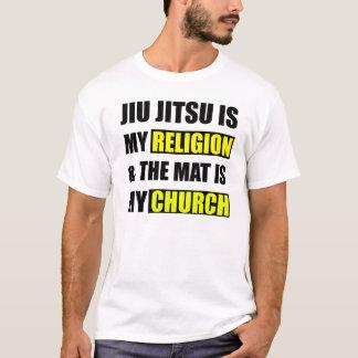 T-shirt Jiu Jitsu est ma religion et le tapis est mon