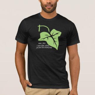 T-shirt John 15-5 Vigne Vert Blanc TRANS PNG