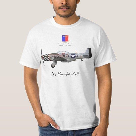"""T-shirt John Lander's P-51 """"Big Beautiful Doll"""""""