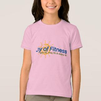 T-shirt Joie de sonnerie de filles de forme physique