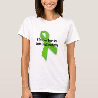 T-shirt Joignez l'enregistrement de donateur de moelle
