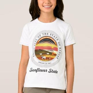 T-shirt Joint et devise d'état du Kansas