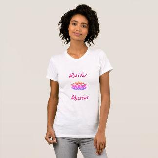 T-shirt Jolie conception de maître de Reiki de fleur de