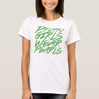 T-shirt Jolies perles d'usage de filles