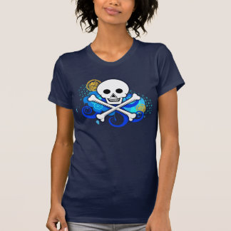 T-shirt Jolly roger 2,0 couleurs augmentées des femmes