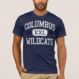 T-shirt Jonction moyenne de Columbus de chats sauvages de