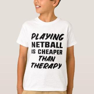T-shirt Jouer au net-ball est meilleur marché que la