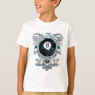 T-shirt Joueur 8-Ball en filigrane de piscine