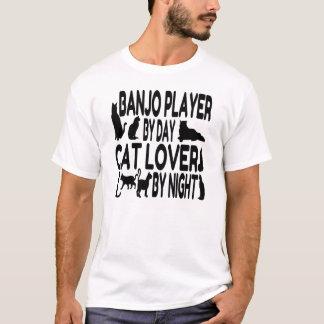 T-shirt Joueur de banjo d'amoureux des chats