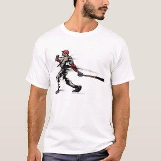 T-shirt Joueur de baseball tenant la batte, vue de côté