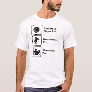 T-shirt Joueur de basket, buveur de bière, coureur de